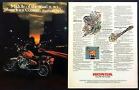 "1981 Honda CX500 Custom Motorcycle photo ""Ahead of Its Time"" 2-page print ad"