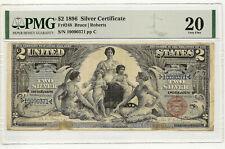 1896 $2 SILVER CERTIFICATE ~ FR#248 ~ FRESH NEW GENERATION HOLDER ~ PMG VF20!