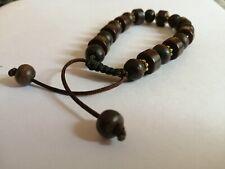 brown beads artisan resin bracelet