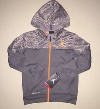 Boys Size 5 5T Jordan Therma Fit Elephant Print Accent Zip Up Hoodie Jacket Nwt