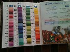 Tabla de tarjeta de sombra de anclaje Color Libro Libro para bolas de plástico laminado & Skiens