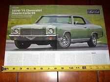 1970 - 1971 CHEVROLET MONTE CARLO SS - ORIGINAL ARTICLE