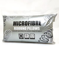 Pack of 2, 4, 8 Microfibre Pillow Rectangle Insert Filler Rebound 100% Cotton