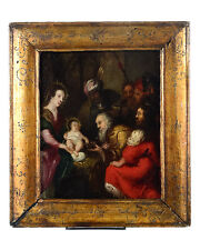 18th century Italian Old Master -Adoration of the Magi - Oil painting on Copper