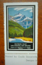 New Zealand Government Tourist Office Cinderella Stamp - Routeburn Valley(1930s)