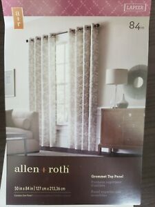 "Allen + Roth 50"" X 84"" Grommet Top Panel Curtain Shore #0792482 Window Curtains"
