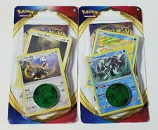 (2) Pokemon Sword & Shield Checklane Blister Packs With Cosmic Holofoil Cards