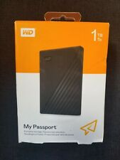 WD - My Passport 1TB External USB 3.0 Portable Hard Drive with Hardware Encry...