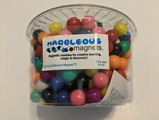SOLID COLORS MAGNET MARBLES TUB OF 350 + 36 LOOSE, ASSORTED COLORS