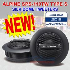 "ALPINE SPS-110TW 1"" CAR AUDIO STEREO TYPE-S 300W PURE SILK TWEETERS & CROSSOVERS"