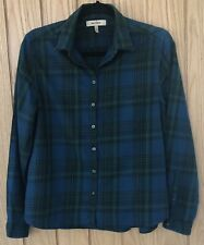 Ladies WHYRED Blue & Green Checked  Long Sleeved Casual Shirt Size 40 Fit UK 12