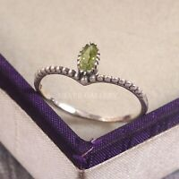 Peridot  Solid 925 Sterling Silver Ring , Handmade Ring Size - 9 R 130
