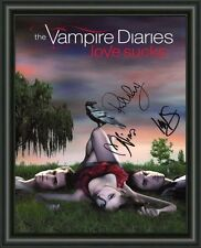 VAMPIRE DIARIES - CAST -  A4 SIGNED AUTOGRAPHED PHOTO POSTER  FREE POST