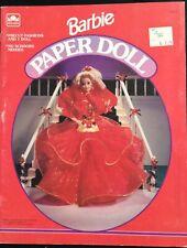 Barbie Puppe Buch, Whitman 1993, Uncut, 4 Seiten Kleidung, Schmuckkästchen