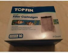 TOP FIN Small Filter Cartridges For Top Fin Power Filter 6 Count