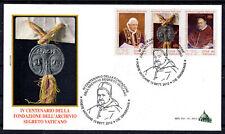 Vatikan Vaticano 2012 FDC Nr.1745 - 1747 Vatikanisches Geheimarchiv