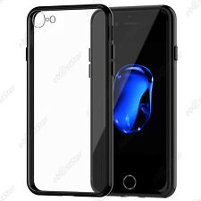 Housse Etui Coque Rigide Transparent Bumper Transparent/Noir Apple iPhone 7 4.7""