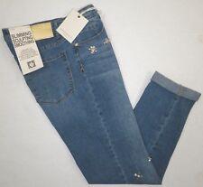 ANNE KLEIN Womens Girlfriend Leo Rhinestone Stretch Denim Jeans Chelsea Wash 4