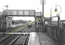 Halesworth Railway Station Photo. Darsham - Brampton. Saxmundham to Beccles (13)
