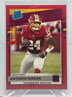 2020 Donruss Red Press Proof Rated Rookie Antonio Gibson #335 Wash. Football