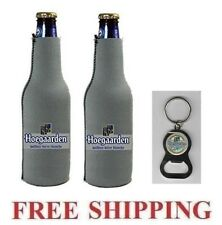 HOEGAARDEN BELGIAN BEER 2 BOTTLE SUIT COOLER COOLIE KOOZIE & BOTTLE OPENER