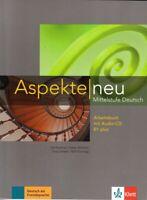 Klett ASPEKTE NEU B1plus (B1+) Arbeitsbuch mit Audio CD Mittelstufe Deutsch @NEW