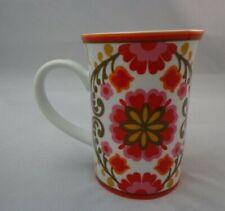 """Coffee Cup Mug Vera Bradley Red Floral Flower 4"""""""