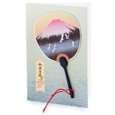 Red Monte Fuji GIAPPONESE Fan CARD