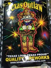 Texas Outlaw Premium Quality Fireworks  Poster New black cat