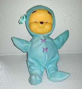Fisher Price WINNE THE POOH SOOTHER Lights Music Blue Sleeper Rubber Face 2002