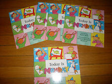 Teaching:set 5 gr k-2 readers-Today is Monday-days of the week-written like song