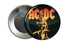 Badge Pin Button AC/DC 38 mm