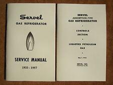 Servel gas refrigerator Service Manual for 1933 - 1957 models