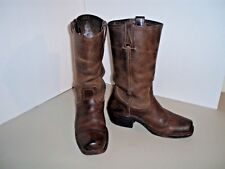 Frye Distressed Brown Leather Western Boots-Size 8.5 M-9 M