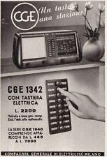 Z3730 Radio CGE 1342 con tastiera elettrica - Pubblicità d'epoca - 1940 old ad