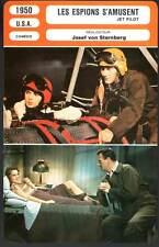 LES ESPIONS S'AMUSENT - Wayne,Leigh,Von Sternberg(Fiche Cinéma) 1950 - Jet Pilot