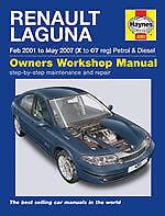 HAYNES MANUAL Renault Laguna 2000 - 2007 Petrol & Diesel Hatchback New H4283