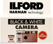 2 x ILFORD XP2 400 35mm 27exp B&W  DISPOSABLE SINGLE USE CAMERA - 1st CLASS POST