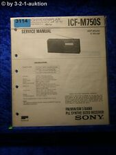 Sony Service Manual ICF M750S PLL Synthesized Receiver (#3114)