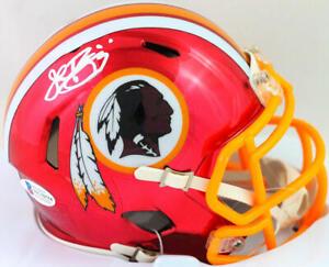 John Riggins Signed Washington Chrome Speed Mini Helmet- Beckett W *White