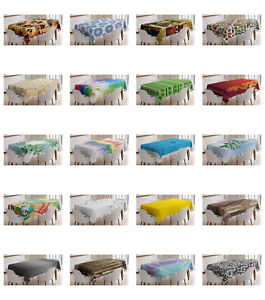 Decorative Rectangular Tablecloth Printed Table Cover Easy to Clean by Ambesonne