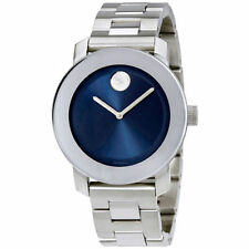 Movado Bold Unisex 3600396 Blue Dial Stainless Steel Watch