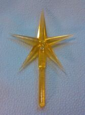 "LARGE Gold Star Ceramic Christmas Tree  Large 4""   Vintage Lights Bulbs New"