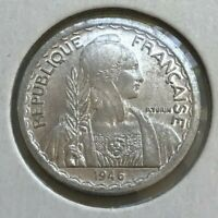 1946 B French Indochina Indo Chine 5 Centimes - Brilliant Uncirculated