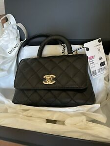 Chanel Coco Hsndle Mini Flap Bag 2021 New With Tag