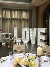 4ft wedding love lights sign Hire Coventry Warwickshire west midlands