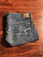AMERICAN EAGLE Women's Medium Wash Stretch Mini Denim Shorts Size 12 Regular