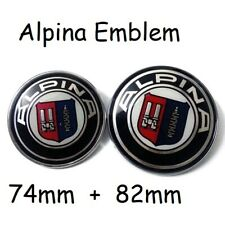74mm + 82mm Alpina Auto Fronthaube Motorhaube Emblem Logo Heck Kofferraum