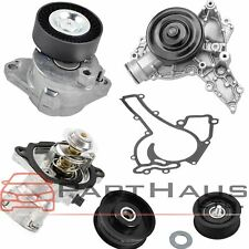 New Mercedes Belt Tensioner + Idler Pulley + Water Pump + Thermostat Kit (5pcs)