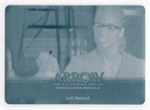 Arrow Season 3 Cyan Printing Plate Card 32 Emily Bett Rickards as Felicity Smoak